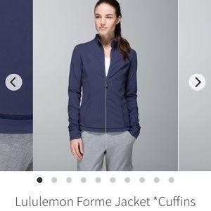 Lululemon Forme Jacket *Cuffins Cadet Blue Sz 12